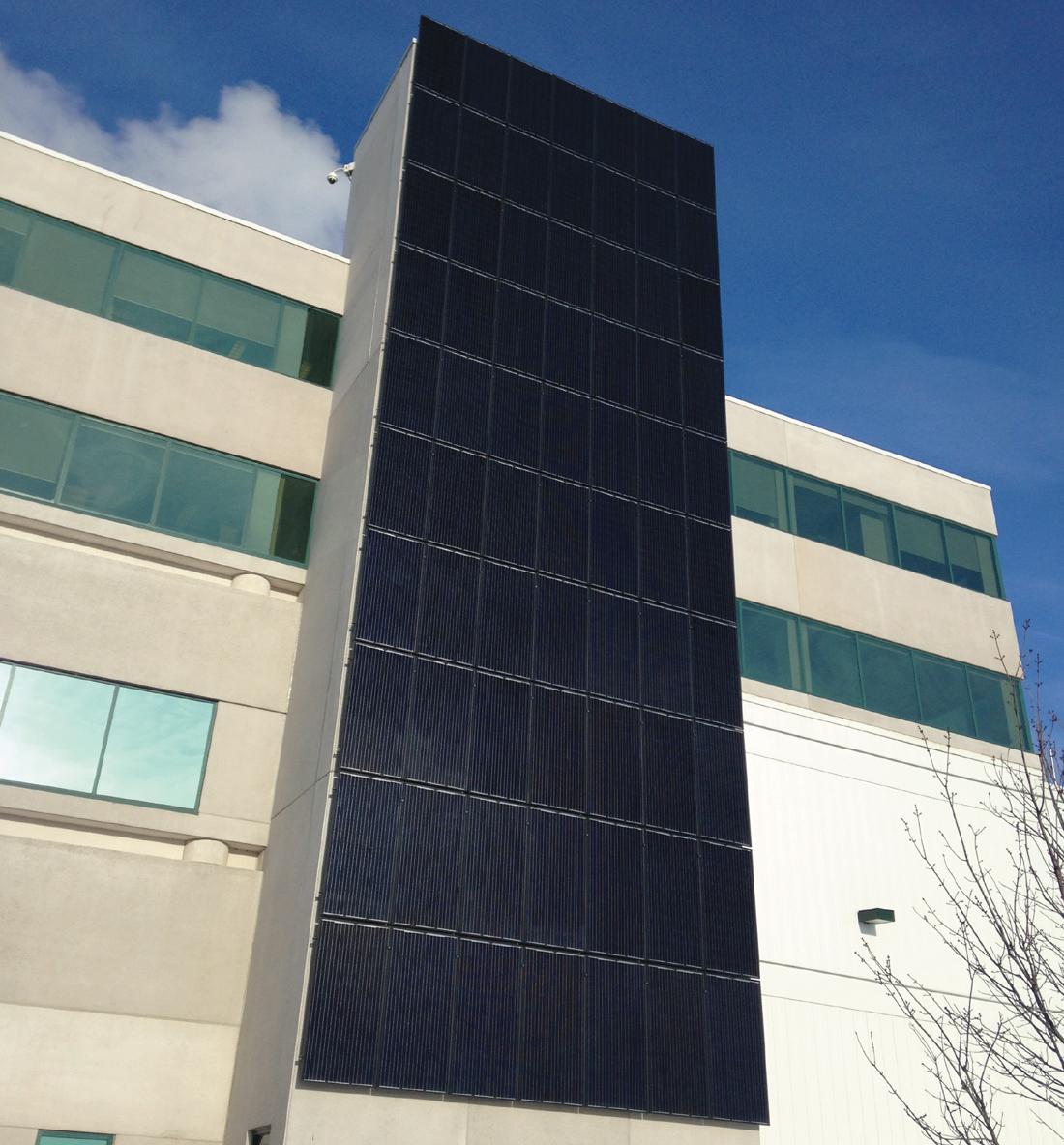Purdue Pharma Solar Wall