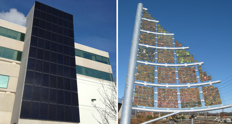 Purdue Pharma's jet black solar walls
