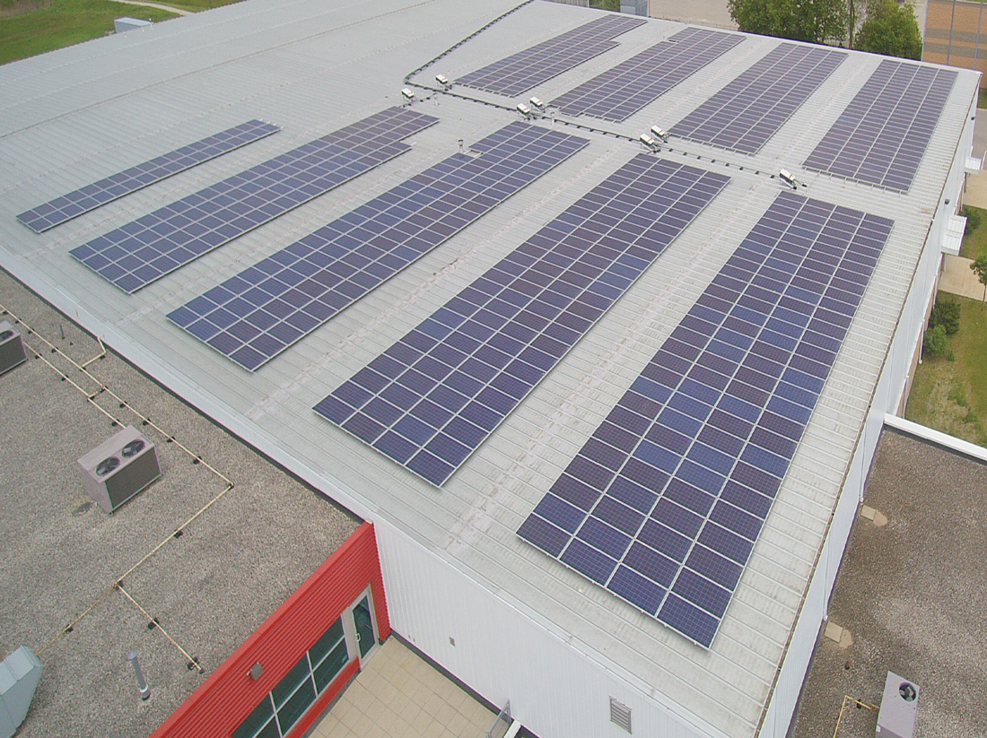 New Tecumseth Recreational Centre Aerial Of Roof Top