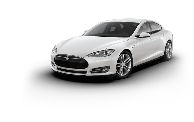 Tesla Electric Car Model s white Color