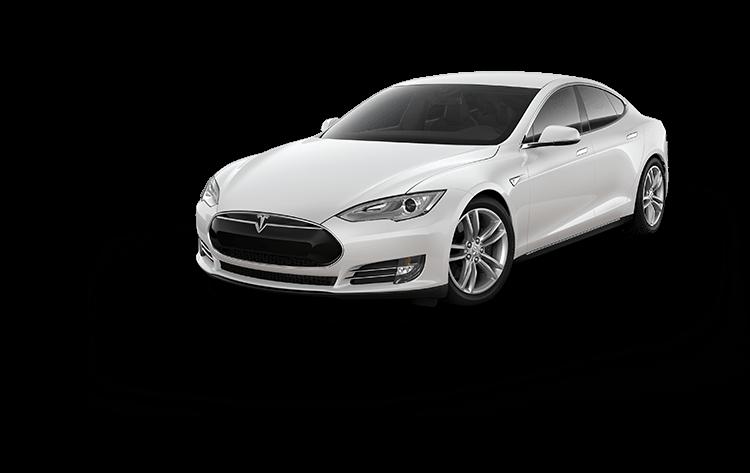 Tesla Electric Car Model s white Color
